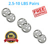 """2"""" OLYMPIC PAIR WEIGHT PLATES 2.5-45 Lbs Home Gym Exercise Strength Training NEW"""