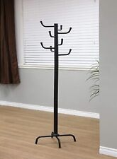 Newtaklife Swivel wooden Coat Rack Stand, Cherry, Black, Oak, Blanket Rack