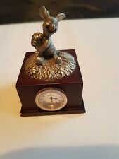 disney piglet metal figurine with clock from disney florida