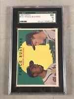 1959 TOPPS #212 FENCE BUSTERS HANK AARON / EDDIE MATHEWS SGC 60 EX 5 HOF
