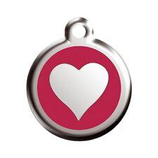 Médaille Gravée Petit Chien Red Dingo 2cm plusieurs Modéles Coeur Rouge
