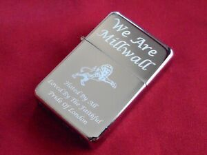 Millwall Engraved Lighter with Gift Box - FREE ENGRAVING