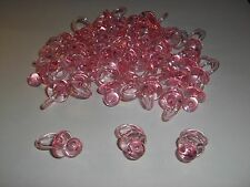 """50 Pink Pacifiers 1.25"""" 1-1/4""""  """"Don't Say Baby"""" Baby Shower Favor Decor Craft"""