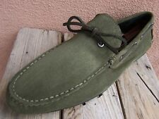 COACH NEW YORK Mens Casual Dress Shoes Irish Green Moccasin Loafers Size 11.5M
