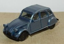 MICRO HERPA HO 1/87 CITROEN 2CV 6 BLEU METAL no BOX