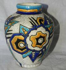 K} Superbe vase Art Deco BOCH ET FRERES LA LOUVIERE Belgium (très bon état)