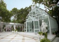 Pavillon aus massivem Stahl, Gartenhaus, Kirche, Orangerie, Hochzeitskulisse