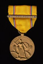 WW2 1945 American Defense Medal with Ribbon - VF Condition