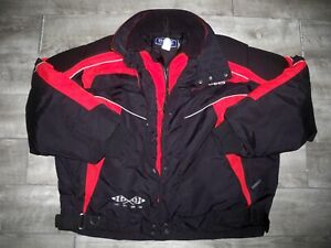 Polaris Pure Edge Red Snowmobile Sled Insulated Racing Men's Jacket Coat Large