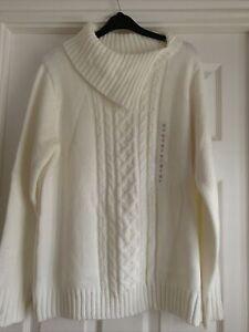 Ladies Bhs Winter White Jumper Size 18
