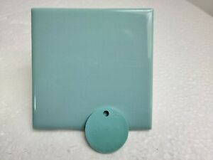 Surf Green 4 in Blue Aqua Glow Ceramic Tile 4.25 in Daltile Color 0197 Color 105