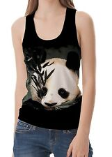 Cuddly Panda Women Vest Sleeveless Tank Tops wb22 acr40266