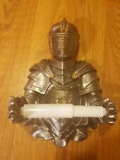 New Medieval Knight Suit Of Armor Hanging Bathroom Toilet Paper Holder