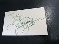 Victoria Justice Autographed 3x5 Index Card
