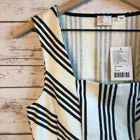 Anthropologie Peplum Sleeveless Top | NWT Postmark Women's Small Striped Tank