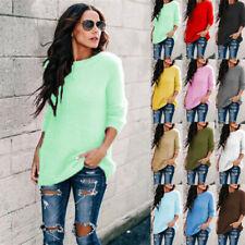 Women Winter Fluffy Sweater Long Sleeve Fleece Pullover Tops Tunic Lose Blouse