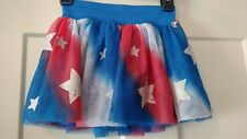 Justice Skort Red White and Blue With Silver Stars Youth Girls Size 7