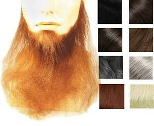 "16"" LONG FULL FACE BEARD DUCK DYNASTY BIKER COSTUME BEARD HUMAN HAIR BLEND"