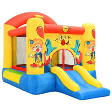 Happy Hop Inflatable Bouncer with Slide 330x230x230cm Outdoor Bouncy Castle