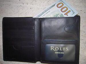 BLACK ROLFS Men's wallet 21 credit card slots Genuine Premium Leather ATTACHE NW