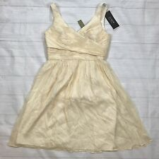 * NEW J Crew $228 Silk Chiffon Heidi Dress Sz 8 in Champagne Wedding Bridesmaid