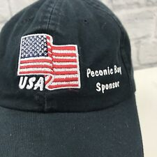 2a16d969ebb Ducks Unlimited Baseball Hat Sponsor Navy Cotton USA Flag Embroidered  Adjustable