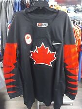 Men's 2018 Team Canada IIHF Hockey Olympic Black Blank Payer Jersey Small