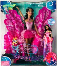 ✨VHTF Barbie Fairytopia Mermaidia Fairy-to-Mermaid AA Ethnic Elina Wings Tail 🦋