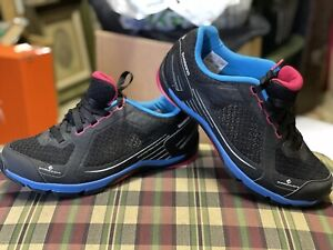 Shimano Click'r CW41 L Womens Black/Blue Cycling Shoes Size US 7.8 EUR 40