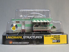 WOODLAND SCENICS GRILLIN & CHILLIN TRAILER BUILT & READY HO SCALE park WDS5060