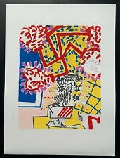 New York School Artist Knox Martin Signed Serigraph Print Floral Abstract 67/300