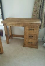 NEW SOLID WOOD RUSTIC CHUNKY SINGLE PEDAL DRESSING TABLE MADE TO MEASURE