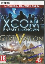 XCOM Enemy Unknown & CIVILIZATION V sid meier's jeu video de stratégie pour PC