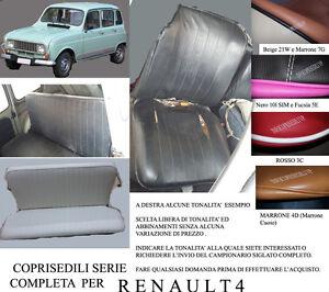 RENAULT 4 COPRISEDILI COMPLETI TONALITA' A SCELTA (NP 2.06-4.07)