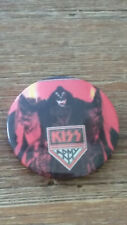 Kiss Gene Army vintage SMALL LITTLE BUTTON music glamrock rock metal
