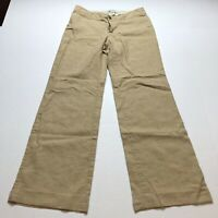Banana Republic Sz 4 Linen Blend Tan Trouser Pants A712