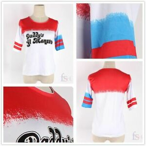 Cool Harley Quinn T-Shirt Daddy's Lil Monster Suicide Squad Inspired Joker Top