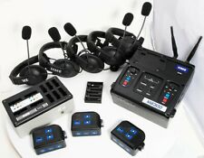 HME DX300 College Football Coach Intercom Base, 5 Headsets, 3 Beltpakcs, Charger