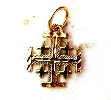 Jerusalem Templar Cross pilgrim Pendant Red Gold 585 solid # a87b