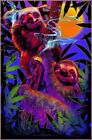 "High In The Bush Sloth/Koala Non-Flocked Blacklight Poster 24.5""x36.5"" Laminated"
