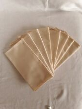 8 Vintage Table Napkins Cotton Cream With Polka Dot Pattern