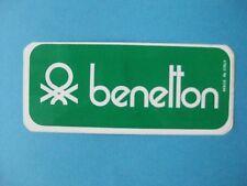 Autocollant ancien : Benetton