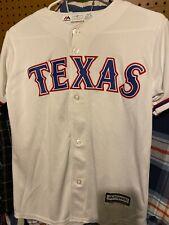 Majestic Merchandise Texas Rangers Baseball Jersey Shirt Youth Medium10/12