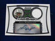 2006 Bowman Sterling Leon Washington rookie jersey autograph  Jets  jsy