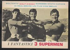 I Fantastici 3 Supermen Cartolina Bianco Nero Del 1967 CAR04874