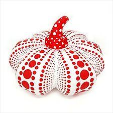 Yayoi Kusama soft sculpture Pumpkin Mascot Plush L size Red color JapanNew