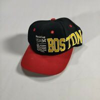 VTG 90s APEX ONE World Cup USA 94 BOSTON Spell Out Snapback Cap Hat Black Red