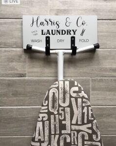Personalised ironing board hanger/Ironing board hanger/Grey laundry Decor/