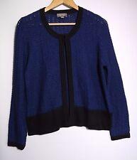 Sussan Women's Blue & Black Knit Cardigan - Size M