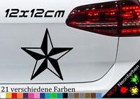 Nautischer Stern Aufkleber 12x12cm Nautical Star Symbol See Segeln Tattoo Vinyl